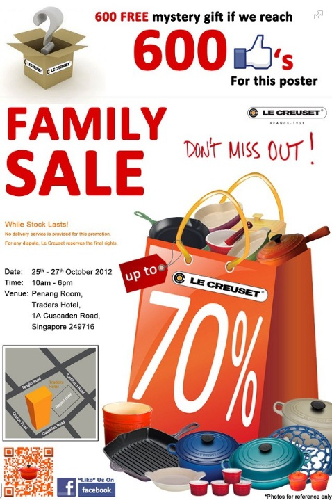 le creuset family sale oct 2012 little chulet 39 s world. Black Bedroom Furniture Sets. Home Design Ideas