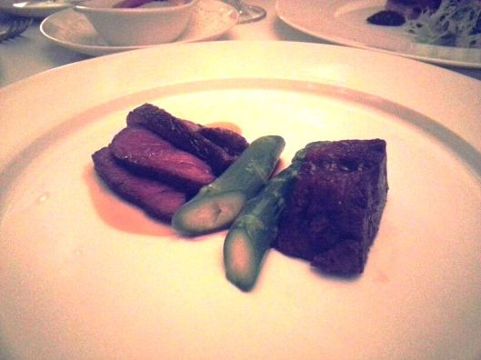 2 Way Preparation Wagyu with Asparagus 02