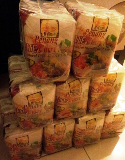 Tower of instant noodles